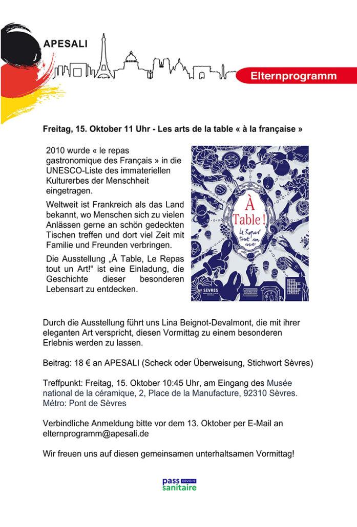 Elterprogramm Sèvres